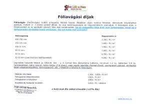Fóliakiágási díjak 2015-16.